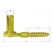 CW 13/106 uchwyt czopowy wkręcany ⌀ 13 mm - 106 x 48 mm - DOMAX DMX
