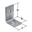 ŁB 1P łącznik do betonu - 75 x 75 x 50 mm - ocynkowany ogniowo - DOMAX DMX