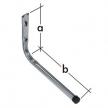 HPP 350 hak garażowy - hak pojedynczy prosty - 170 x 350 mm - ocynkowany galwanicznie - VELANO DOMAX