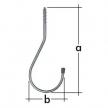 HWO hak garażowy - hak wkręcany - 210 x 85 mm - ocynkowany galwanicznie - VELANO DOMAX