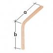 WDGL 150 wspornik drewniany giętki lekki - 100 x 150 mm - sklejka - VELANO DOMAX