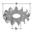 PZD 1 pierścień zębaty - 48 x 17 mm - ocynkowany ogniowo - DOMAX DMX