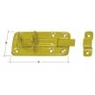 WZTW 100 zasuwka zamykana tłoczona z ryglem prostym - 100 x 40 x 1 mm - DOMAX DMX