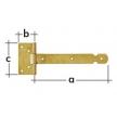 ZBL 100 zawias bramkowy lekki przetłoczony - 100 x 25 x 65 x 1,5 mm - DOMAX DMX