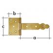 ZBO 150 zawias bramkowy ozdobny - 150 x 60 x 90 x 2,5 mm - DOMAX DMX