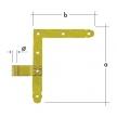 ZN 250 φ 13 Zawias narożnikowy prosty 250 x 200 mm φ 13 mm komplet prawy + lewy DOMAX DMX