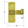 ZR 165/13 zawias ramowy ⌀ 13 mm - 165 x 110 x 3 mm - DOMAX DMX