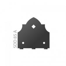SDD 85A - Łącznik C - 85 x 85 x 2,5 /2 blister - zakończenie - ocynkowany ogniowo - System ozdobny SD - DOMAX DMX