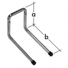 H2P 180 hak garażowy - hak podwójny prosty - 120 x 180 mm - ocynkowany galwanicznie - VELANO DOMAX