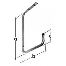 HSP hak garażowy - hak sufitowy pojedynczy - 390 x 260 x 90 mm - ocynkowany galwanicznie - VELANO DOMAX