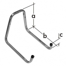 HO hak garażowy - hak do węża ogrodowego - 250 x 300 x 90 mm - ocynkowany galwanicznie - VELANO DOMAX