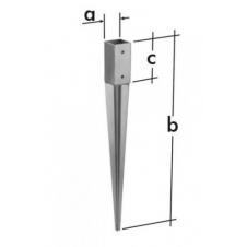 PSG 90/750 podstawa słupa 90 wbijana - 91 x 750 x 150 mm