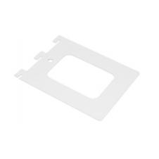 WKS 3 B wspornik do książek jednorzędowy  - biały - VELANO DOMAX