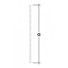 WLS 150 B listwa wspornikowa pojedyncza - 150 mm - biała - VELANO DOMAX