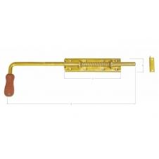 WSP 600 zasuwka sprężynowa z rączką drewnianą - 600 x 50 x 190 mm - DOMAX DMX