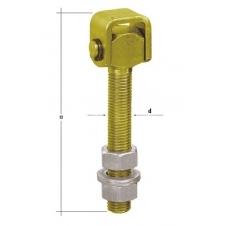 ZRW 20 zawias regulowany z przelotem - 170 mm M20 - DOMAX DMX