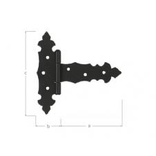 ZTD 150 C zawias trójkątny ozdobny - 150 x 35 x 80 x 2,0 mm - czarny - DOMAX DMX